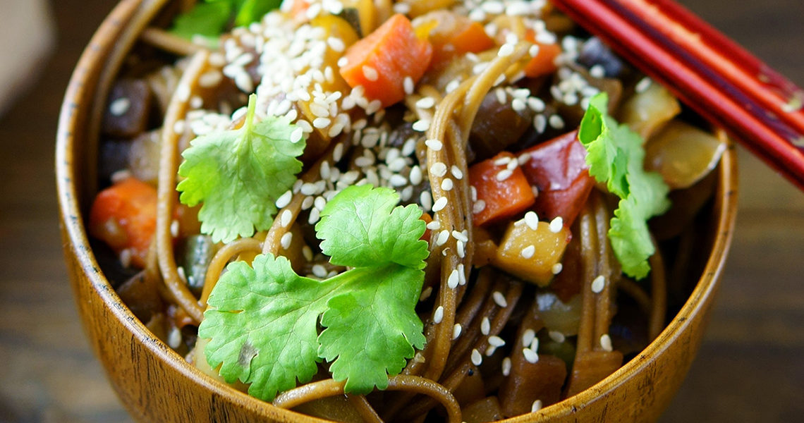 Healthy & vegetable-packed, Asian inspired, chicken noodle
